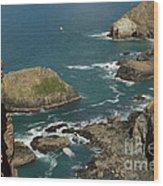 Cornish Seascape St Agnes  Wood Print