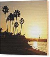 Coronado Sunset Wood Print