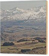 Coronet Peak Wood Print