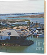 Corpus Christi Bay Towards Mustang Island Texas Wood Print