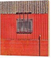 Corrugated Wood Print