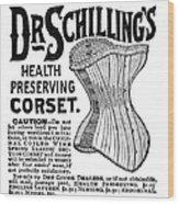 Corset Advertisement, 1887 Wood Print
