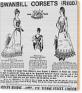 Corset Advertisement, 1892 Wood Print