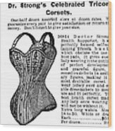 Corset Advertisement, 1895 Wood Print
