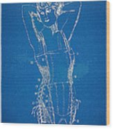 Corset Patent Series 1924 Figure 1 Wood Print