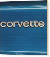 Corvette Badge Wood Print