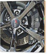Corvette Chrome 60th Wood Print