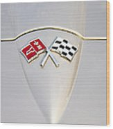 Corvette Emblem Wood Print