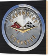 Corvette Name Plate Wood Print