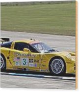 Corvette Racing C6r 3 Wood Print