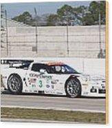 Corvette Racing Ron Fellows C6r Wood Print