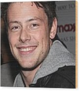 Cory Monteith At In-store Appearance Wood Print by Everett