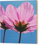 Cosmia Flowers Pair Wood Print
