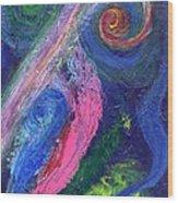 Cosmic Activity # 8 Wood Print