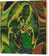 Cosmic Egg - Emerald Wood Print