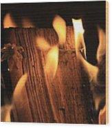Cosmic Fire Wood Print