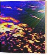 Cosmic Flare Wood Print