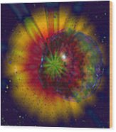 Cosmic Light Wood Print