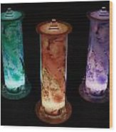 Cosmic Light Tubes 2 Wood Print by Colleen Cannon