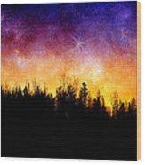 Cosmic Night Wood Print