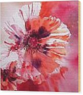 Cosmic Poppies Wood Print