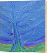 Cosmic Tree Wood Print