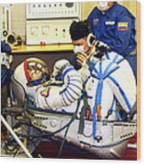 Cosmonaut Training, Soyuz Tma-8 Crew Wood Print
