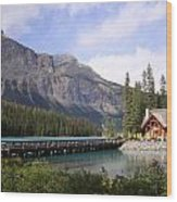Crossing Emerald Lake Bridge - Yoho Nat. Park, Canada Wood Print