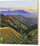 Costa Rica Rolling Hills 1 Wood Print