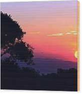 Costa Rica Sunset Wood Print