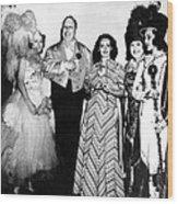 Costume Party At San Simeon. Irene Wood Print