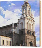 Cotacachi Cathedral Wood Print