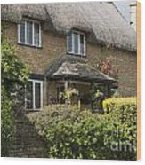 Cotswold Thatched Cottage Wood Print