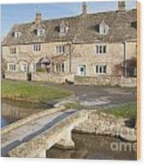 Cotswold Village Of Lower Slaughter Wood Print