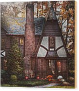 Cottage - Westfield Nj - A Place To Retire Wood Print by Mike Savad