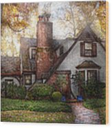 Cottage - Westfield Nj - Grandma Ridinghoods House Wood Print by Mike Savad