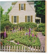 Cottage And Garden Wood Print
