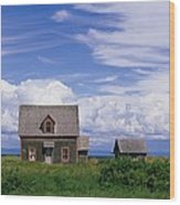 Cottage At Bay Of Chaleur Wood Print