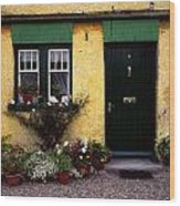 Cottage At Bushmills, Co Antrim, Ireland Wood Print