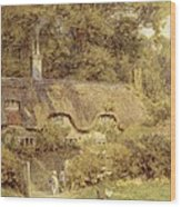 Cottage At Farringford Isle Of Wight Wood Print