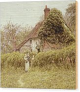 Cottage At Pinner Middlesex Wood Print