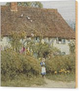 Cottage At West Horsley Surrey Wood Print