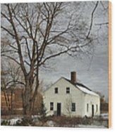 Cottage By The Mill Wood Print