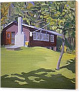 Cottage In Ludow Vermont Wood Print