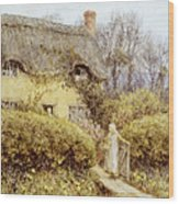 Cottage Near Freshwater  Wood Print