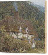 Cottage Near Witley Surrey Wood Print