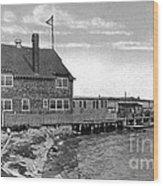 Cottage Park Yacht Club 1902 Wood Print by Extrospection Art