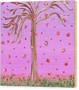 Cotton Candy Sky Wishing Tree Wood Print