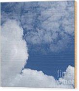 Cotton Clouds Wood Print