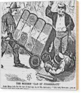 Cotton Loan Cartoon, 1865 Wood Print